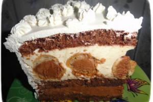 Муссовый торт с шоколадным кремом и профитролями