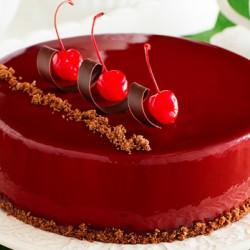 Круглый муссовый торт с зеркальной глазурью