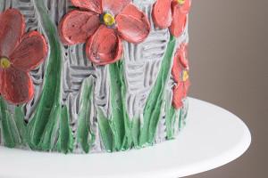 Украшение торта в технике масляной живописи