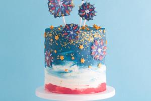 Шоколадный торт «Фейерверк» – особенный десерт для праздника