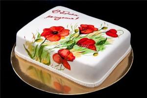 Украшение тортов из мастики – как сделать роспись, рисуем на торте из мастики
