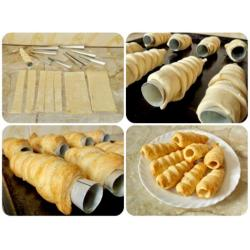 Набор кулинарных металлических форм для трубочек 3 шт ( средние)