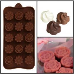 "Форма для льда и шоколада, 15 ячеек, 22х10,5х1,5 см ""Ассорти"""