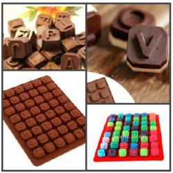 """Форма для льда и шоколада 48 ячеек """"Английский алфавит"""""""