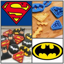 """Набор форм для вырезания печенья, мастики """"Супер герои"""" 4 шт"""