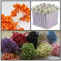 """Тычинки для цветов 240 шт """"Оранжевый"""""""