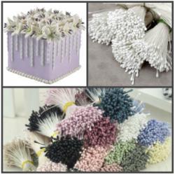 """Тычинки для цветов 480 шт """"Белые"""" матовые"""