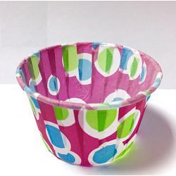 Форма бумажная маффин шарики цветные 25 шт