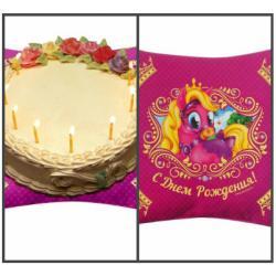 """Подложка для торта """"С Днем Рождения"""" (пони)"""
