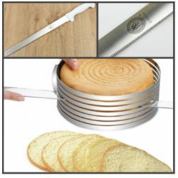 Нож для бисквита с мелкими зубцам 39 см