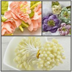 """Тычинки для цветов """"Кристалл"""" 60 шт (Белый)"""