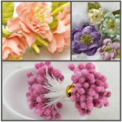 """Тычинки для цветов """"Кристалл"""" 60 шт (Розовый)"""