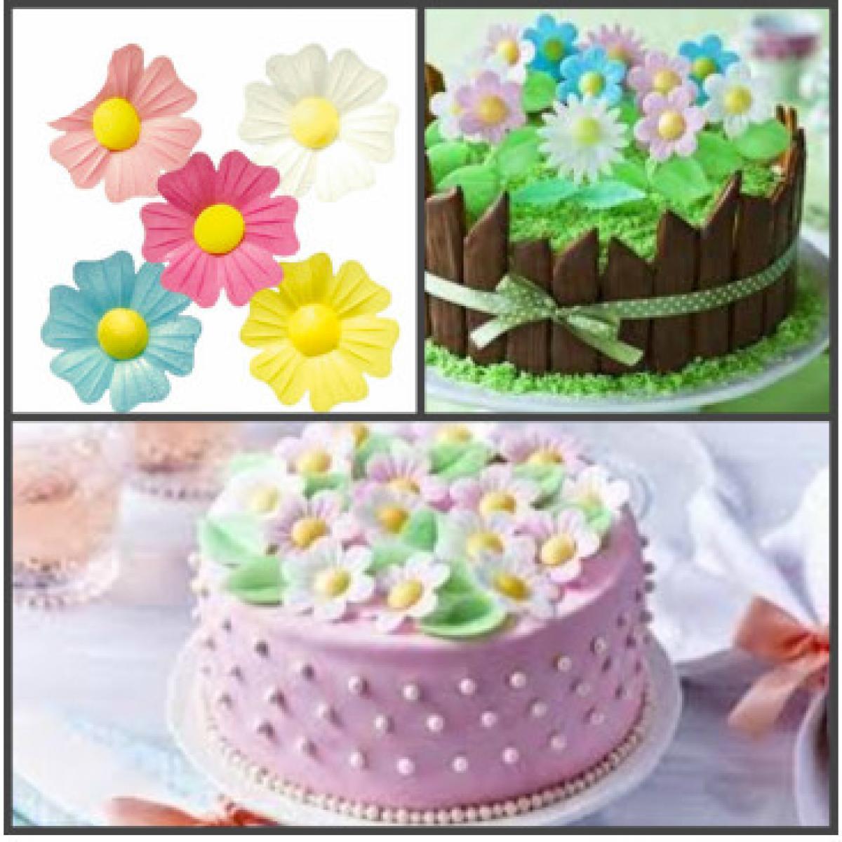 бесплатные вафельные цветы для торта фото всех, кто любит
