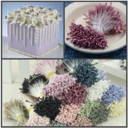 """Тычинки для цветов 440 шт матовые """"Ягодный"""""""