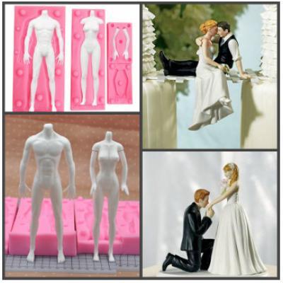 """Набор силиконовых молдов """"Жених и невеста"""" 3D"""