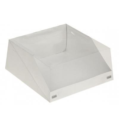 Коробка для торта с окошком 22,5 х 22,5 х 10 см