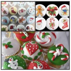 """Сахарное украшение """"Новый год"""" 10 шт"""