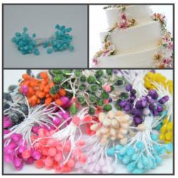 """Тычинки для цветов """"Кристалл"""" 60 шт (Голубой)"""