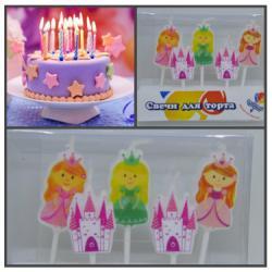 """Свечи для торта """"Принцессы"""" 5 шт"""