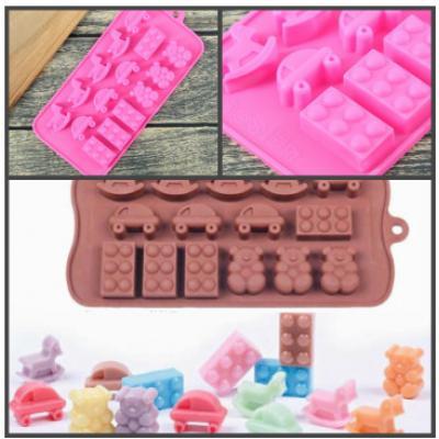 """Силиконовая форма для льда и шоколада 15 ячеек """"Детские игрушки"""""""