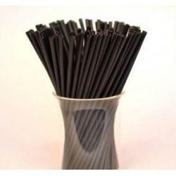 """Палочки для сахарной ваты пластиковые 37 см 100 шт """"Черный"""""""