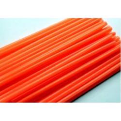 """Палочки для сахарной ваты пластиковые 37 см 100 шт """"Оранжевый"""""""