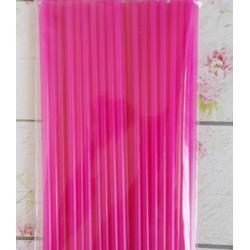 """Палочки для сахарной ваты пластиковые 37 см 100 шт """"Фуксия"""""""