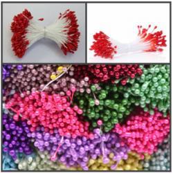 """Тычинки для цветов 380 шт """"Красные"""" мини"""