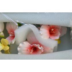 """Сахарные цветы """"Ветка Орхидеи - 2"""" (красная) 1 шт"""