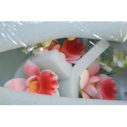 """Сахарные цветы """"Ветка Орхидеи"""" (красный)"""