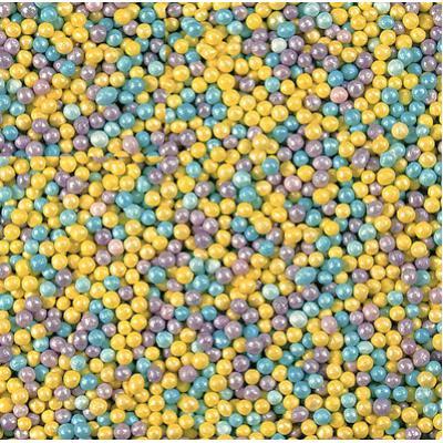Посыпка кондитерская шарики перламутровые 1-2 мм 100 гр голуб-лил-желт
