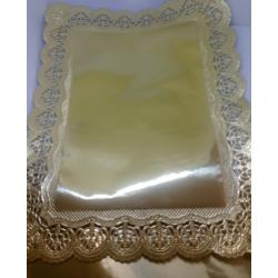 "Набор салфеток для торта 10 шт ""Золото"" 34 х 26"