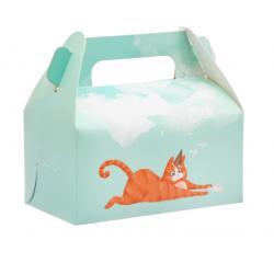 """Коробочка для кексов """"Котик"""" 16 х 15 х 9 см"""