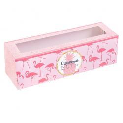 """Коробочка для макарун """"Фламинго"""" 18 х 5,5 х 5,5 см"""