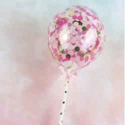 """Топпер для торта """"Воздушный мини шарик """" розовый"""