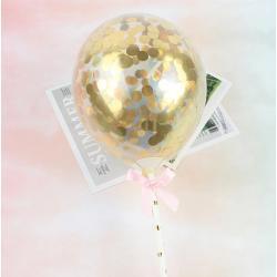 """Топпер для торта """"Воздушный мини шарик """" золото"""