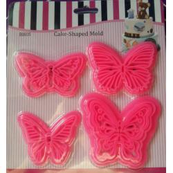 """Набор штампов, печатей для мастики """"Бабочки"""" 4 шт"""