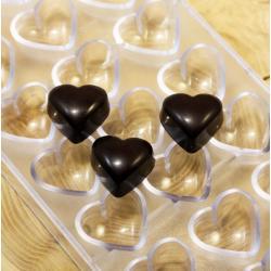 """Форма для шоколада 21 ячейка """"Сердечки"""""""