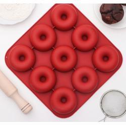 """Форма для выпечки и муссовых десертов 9 ячеек """"Пончик"""""""