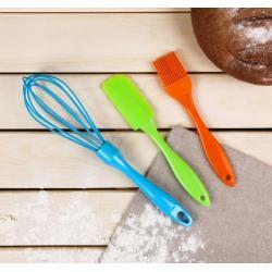 Набор кулинарный 3 предмета: лопатка, венчик, кисточка