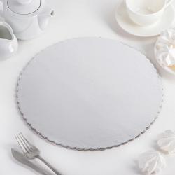Подложка для торта № 26 белая усиленная 5 шт