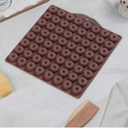 """Силиконовая форма для шоколада, мармелада """"Пончик"""""""