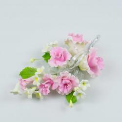 """Сахарные цветы """"Большая ветка Петунии"""" (розовая)"""
