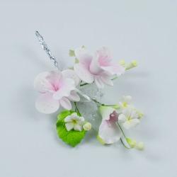 """Сахарные цветы """"Ветка Орхидеи Фаленопсис (розовая)"""