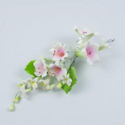 """Сахарные цветы """"Большая ветка Колокольчика"""" (розовая)"""