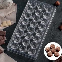 """Форма для шоколада 24 ячейки """"Ракушки"""""""