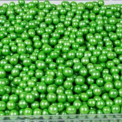 """Драже рисовое в глазури """"Зеленый жемчуг"""" 6 мм"""