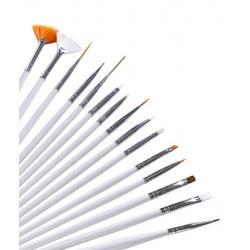 Набор кистей для прорисовки мелких деталей на кондитерских изделиях 15 шт
