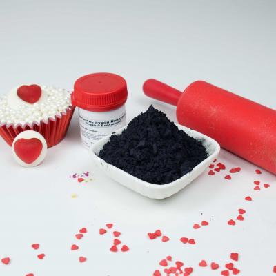 Пищевой краситель блестящий Черный блеск 1 кг