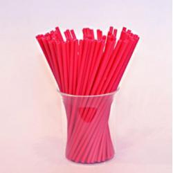 """Палочки для сахарной ваты пластиковые 37 см 100 шт """"Красный"""""""